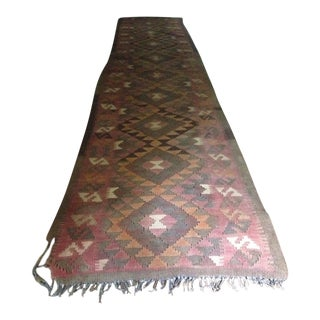 Vintage Kilim Runner Rug - 2′4″ × 12′11″ For Sale