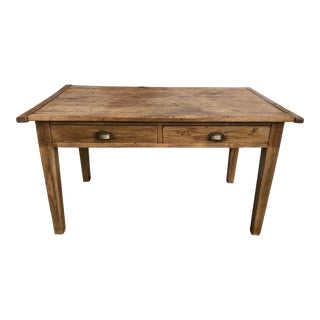 19th Century Country Pine Dining Table For Sale