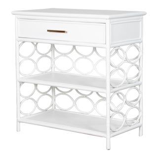 Infinity End Table - White For Sale