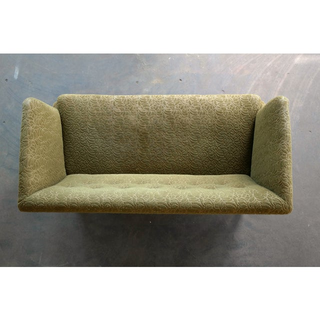 Mid-Century Modern 1930s Kaare Klint Style Danish Settee in Mahogany Attributed to Georg Kofoed For Sale - Image 3 of 12