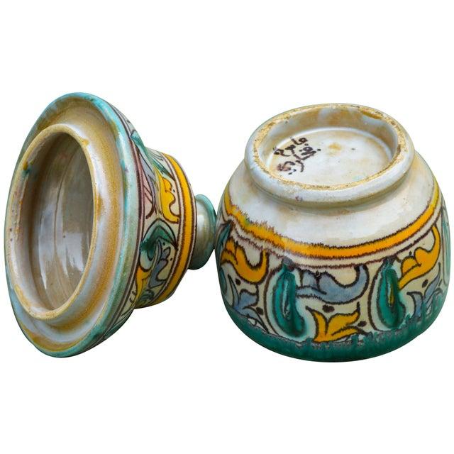 Antique Moorish Ceramic Box For Sale - Image 9 of 11