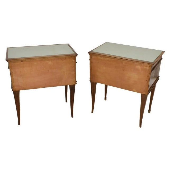 Italian 1950's Italian Mid-Century Modern Burled & Matched Paolo Buffa Manner Nightstand or End Table - a Pair For Sale - Image 3 of 12
