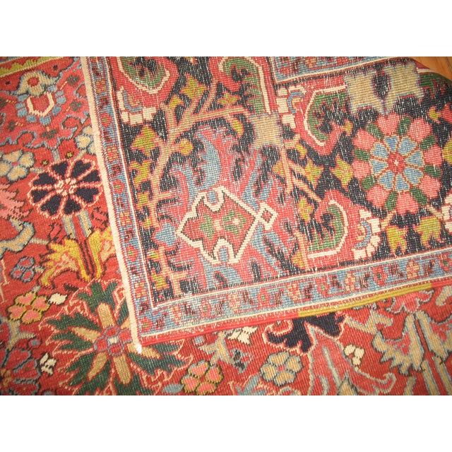 Antique Persian Heriz Rug - 8′4″ × 10′11″ - Image 4 of 11