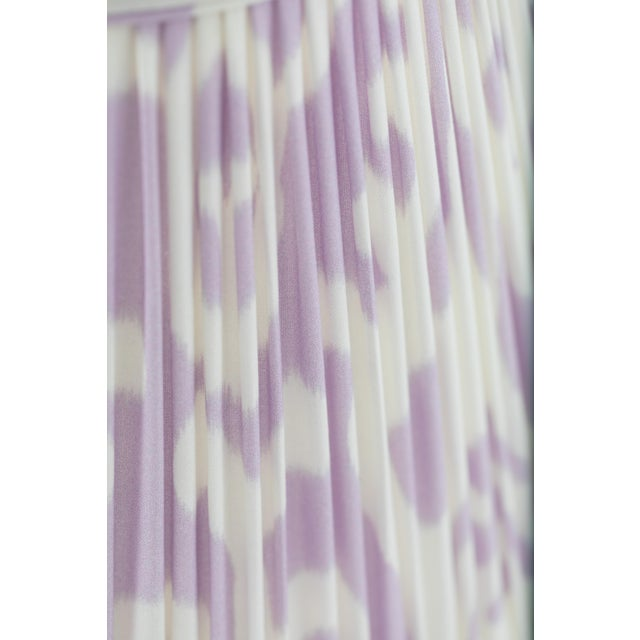 """Not Yet Made - Made To Order Soft Ikat in Lavender 10"""" Lamp Shade, Lavender For Sale - Image 5 of 7"""