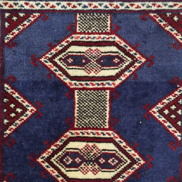"Turkaman Handmade Persian Rug - 2'1"" X 2'8"" - Image 5 of 9"