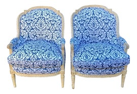 Image of Shabby Chic Club Chairs