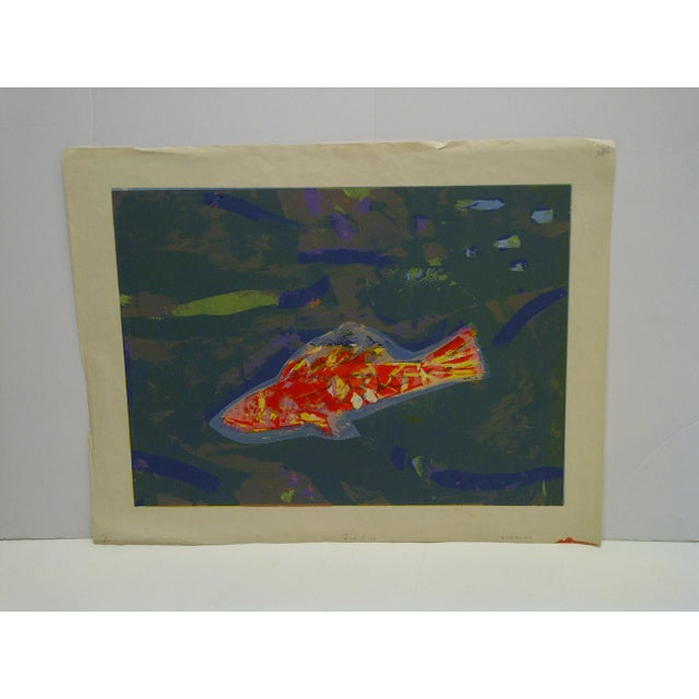 """Limited Edition -- Signed Numbered (X) Print -- Titled """"Gold Fish"""" -- by Okamura For Sale In Pittsburgh - Image 6 of 6"""