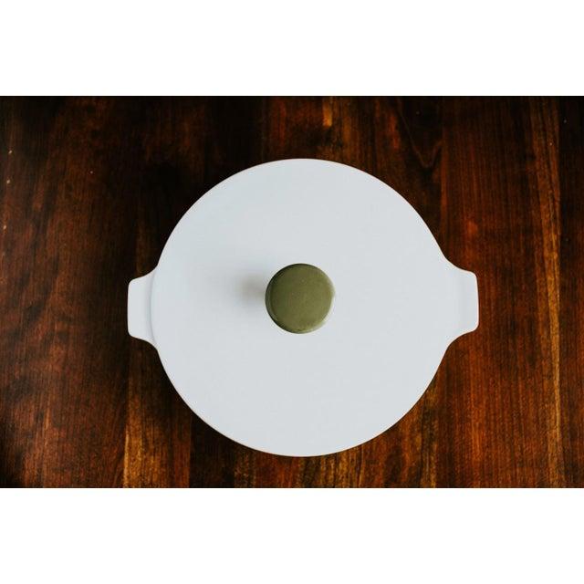 Ceramic Avocado Corning Dutch Oven For Sale - Image 7 of 8