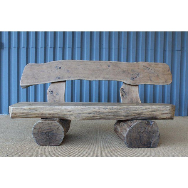 Pair of Oak Benches, France, 1960s. Sold Individually. For Sale - Image 12 of 12