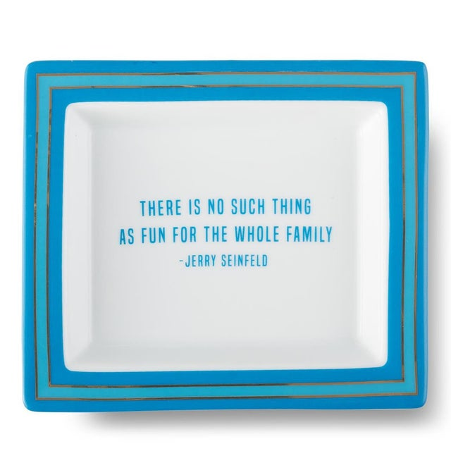 2020s Jerry Seinfeld Wise Sayings Gentleman's Trinket Tray by Kenneth Ludwig Chicago For Sale - Image 5 of 5