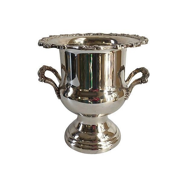 Silver Vintage Siver Plate Champagne Bucket For Sale - Image 8 of 8