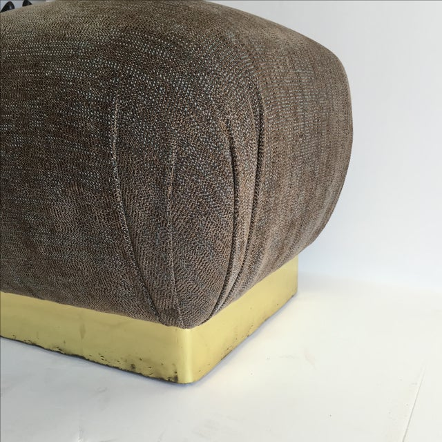 1970 Marge Carson Pouf with New Fabric - Image 6 of 8