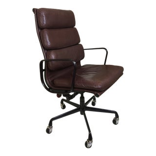 Charles Eames for Herman Miller Management Leather Chair For Sale