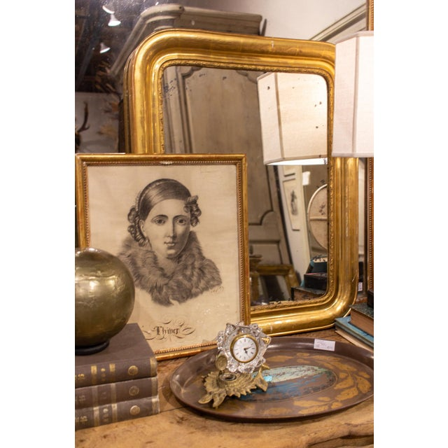 Antique French Gilt Louis Philippe Mirror, Late 19th Century For Sale - Image 12 of 13