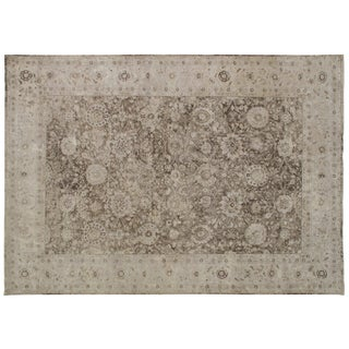 Stark Studio Rugs Traditional New Oriental 50% Wool/50% Silk Rug - 10′ × 14′2″ For Sale
