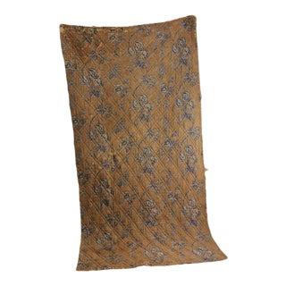 """Antique 1840 French Provence Pique Textile Quilt - 46"""" X 89"""" For Sale"""