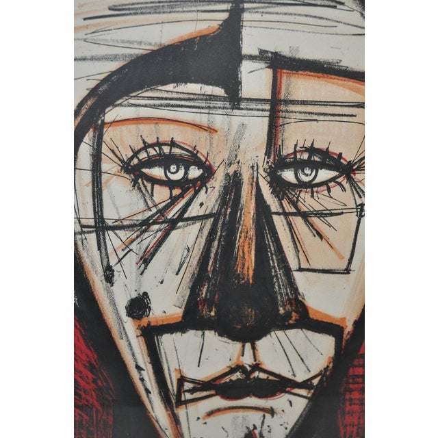 "Bernard Buffet ""Clown with Fez"" Lithograph c.1968 - Image 6 of 7"