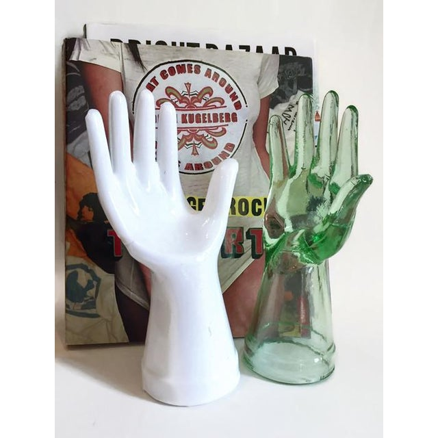Vintage Glass Hand Statues Display Decor Jewelry Stands - A Pair - Image 3 of 11
