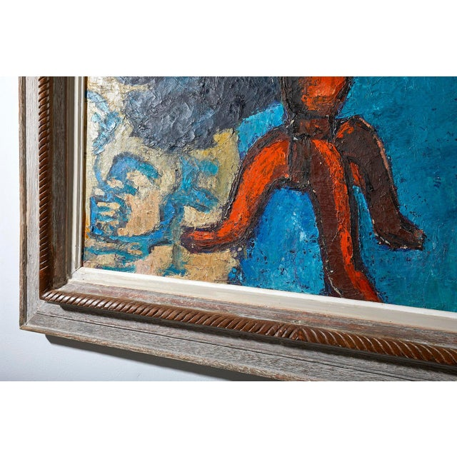 Oil Painting Still Life Signed 1950's For Sale - Image 4 of 6