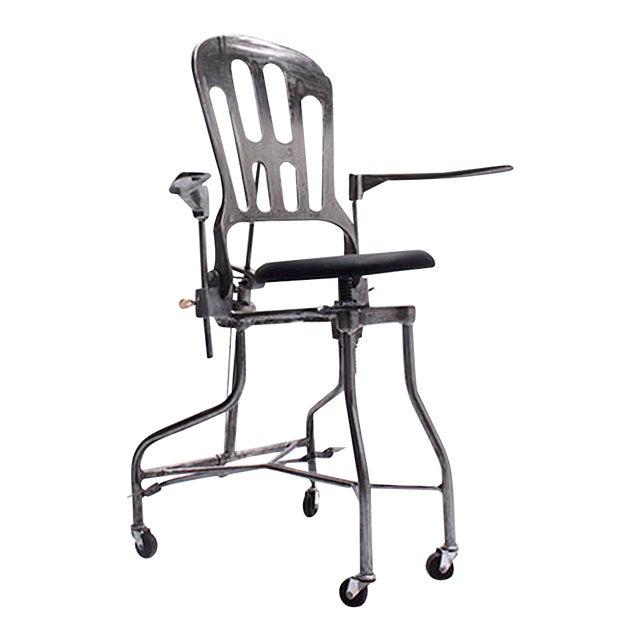 1930s Vintage Adjustable Dental Chair - Image 1 of 8