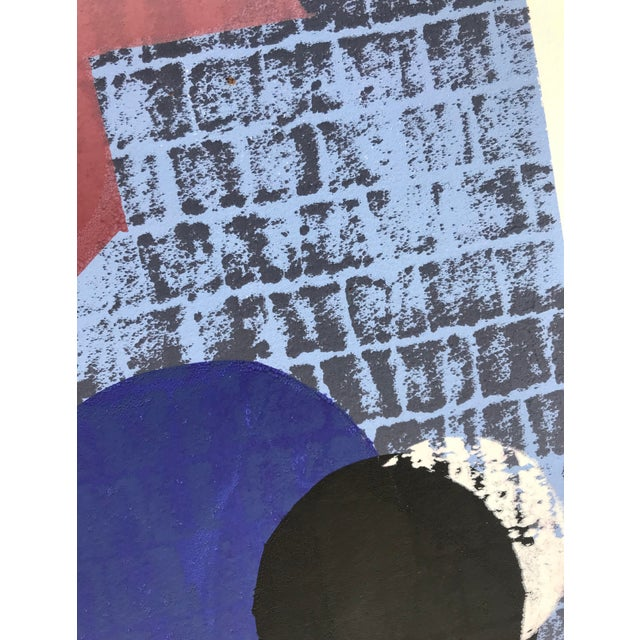 Vintage Abstract Silk Screen Original Art For Sale In New York - Image 6 of 8