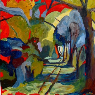 Abstract Painting, Path in the Woods For Sale