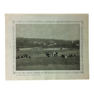 """1906 """"View From Parliament Hill - Looking Northwest"""" Famous View of London Print For Sale"""