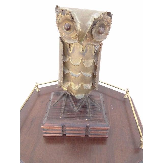 Vintage Mid-Century Metal Brutalist Owl Sculpture - Image 7 of 7