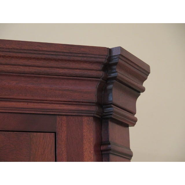 Chippendale Councill Craftsmen Chippendale Mahogany Corner Cabinets- A Pair For Sale - Image 3 of 13