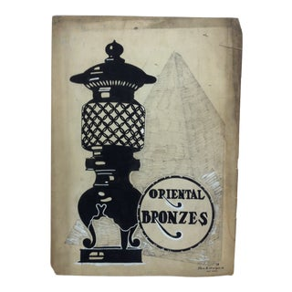 "1924 Vintage ""Oriental Bronzes"" Sign by Thos. B. Sturges Jr. For Sale"
