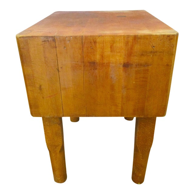 Vermont Maple Butcher Block Table For Sale