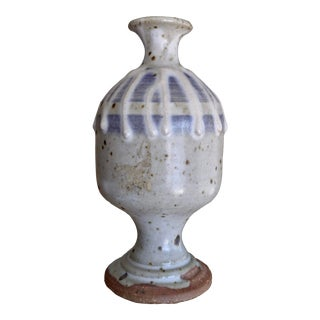 Diminutive Studio Pottery Weed Vase For Sale