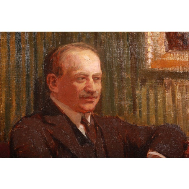 Mid-Century Modern Luplau Janssen Portrait of a Man, c. 1920 For Sale - Image 3 of 4