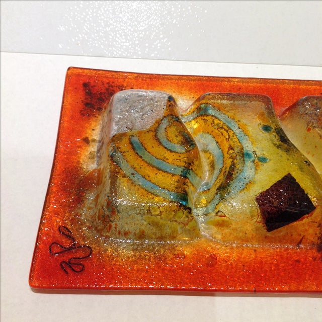 Fused Glass Art Dish - Image 9 of 10
