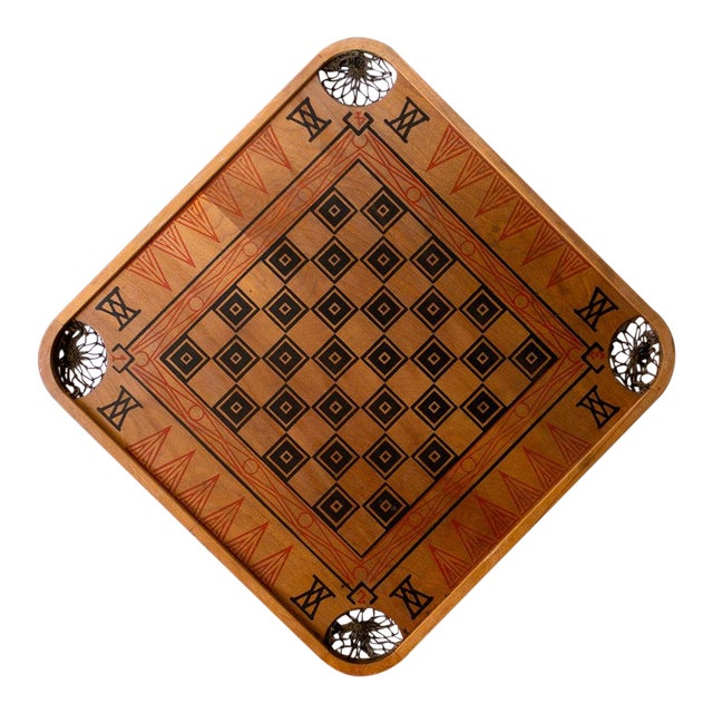 1930s Boho Chic Viking Motif Carrom Board For Sale