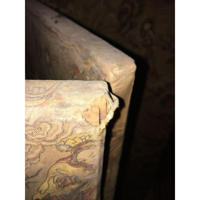 Vintage Oriental Fabric Screen Room Divider Chairish