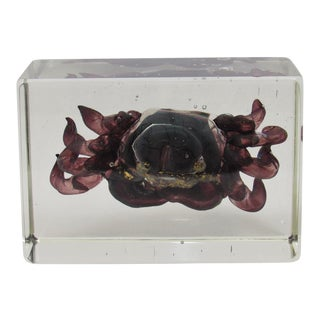 Vintage Murano Glass Crab For Sale