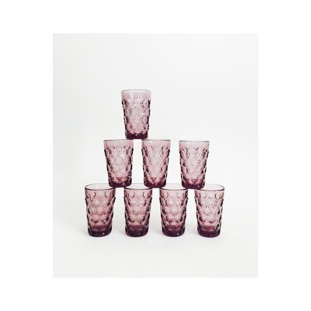 Vintage Purple Juice Glasses - Set of 8 - Image 5 of 5