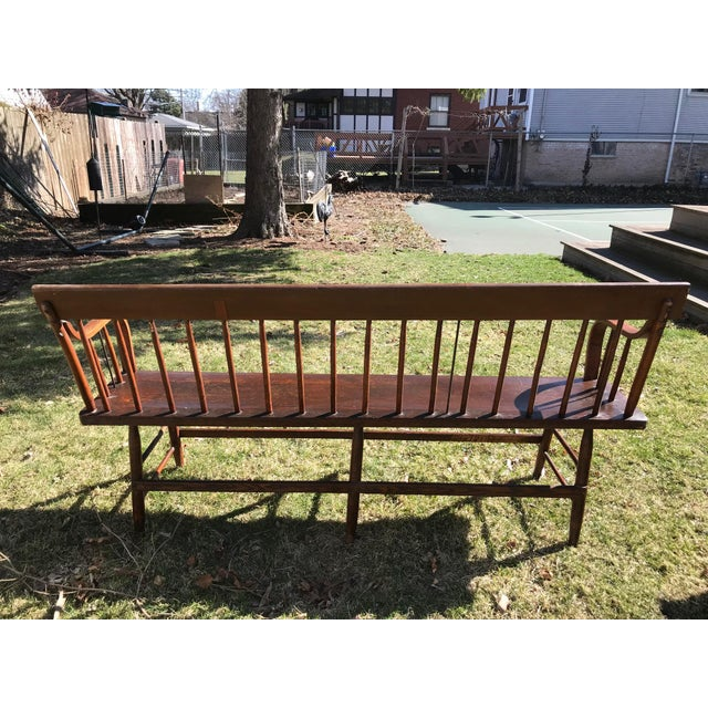 Vintage Church Bench made in 1880s in Midwest. Purchased at a church yard sale in 1939. Excellent, sturdy condition. All...