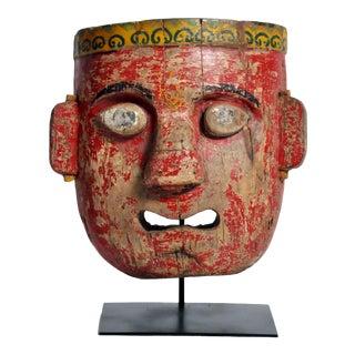 Vintage Indian Wooden Mask For Sale