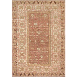 """Mansour Handwoven Khotan Wool Rug - 6'3"""" X 8'10"""" For Sale"""