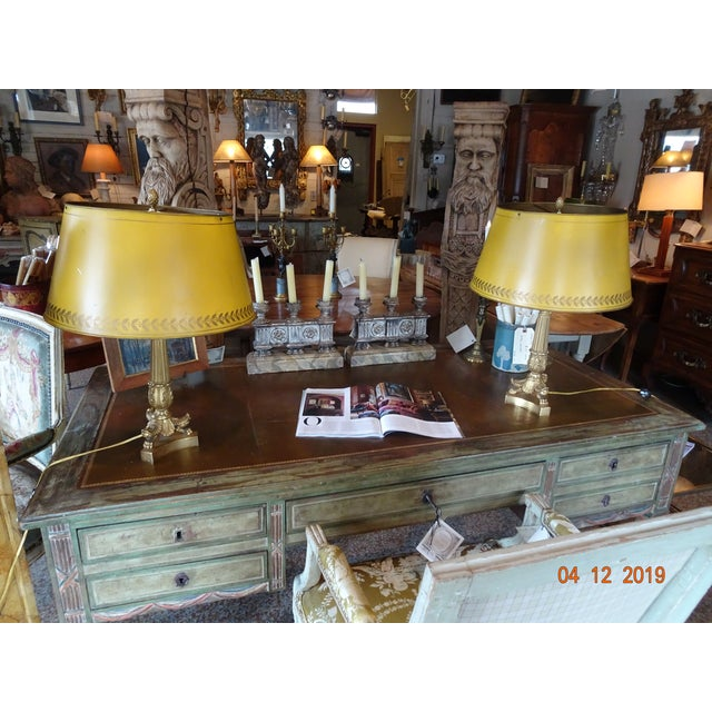 Pair of 19th Century French Bouillotte Lamps For Sale - Image 11 of 12
