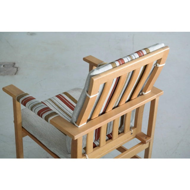 1960s Pair of Børge Mogensen Model 2257, Oak Lounge Chair for Fredericia Stolefabrik For Sale - Image 5 of 10