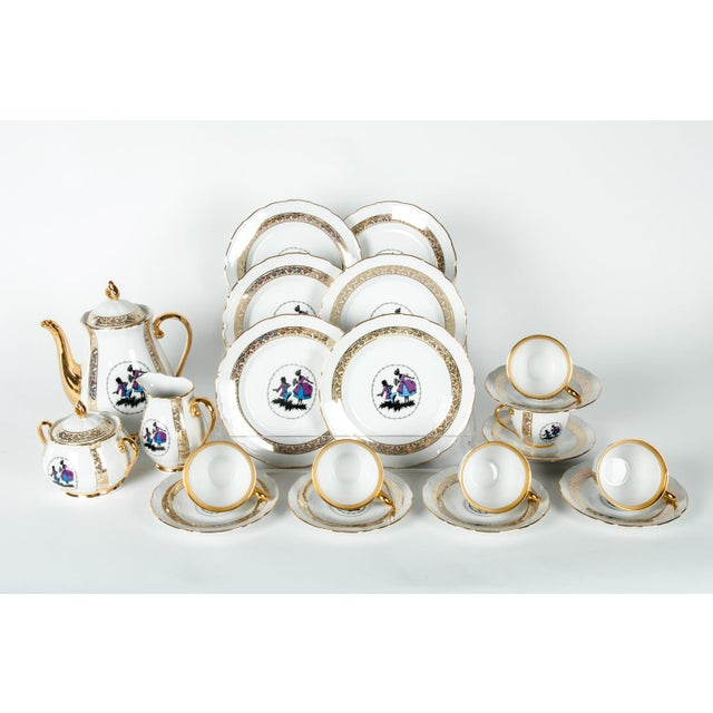 1920s Tea or Coffee Luncheon Service for 6 People - Set of 21 For Sale - Image 5 of 6