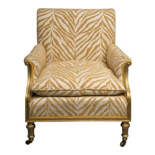 19th Century Upholstered Armchair For Sale