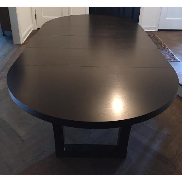 Extendable Dark Walnut Dining Table - Image 2 of 8