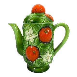 1940s Ceramic Oranges Teapot For Sale