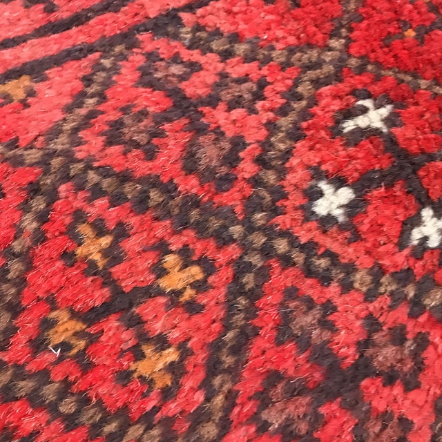 """Patterned Afghan Wool Rug - 3'6"""" X 5'8"""" For Sale - Image 9 of 13"""
