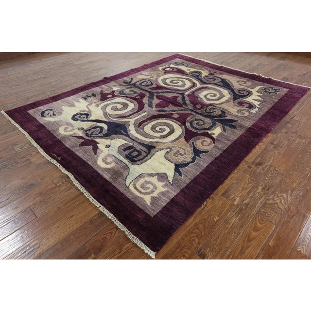 "Modern Signed Kaitag Hand Knotted Rug - 7' 8"" X 9' 10"" - Image 3 of 8"