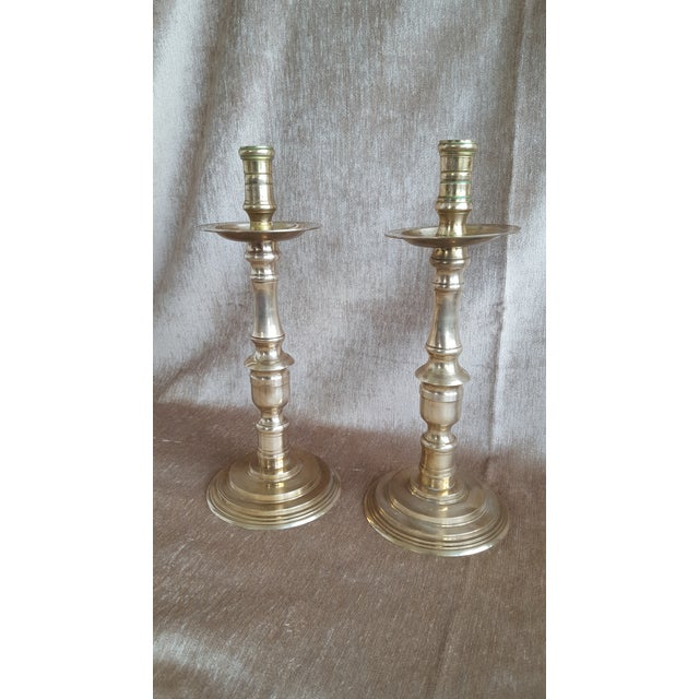 Boho Chic Vintage Brass Moroccan Indian Candle Holders - a Pair For Sale - Image 3 of 9